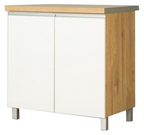 Нижний кухонный шкаф Bodzio Monia 80 White/Brown, 800x520x860 мм