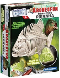 Clementoni Archeofun Prehistoric Piranha Glow In The Dark 61242