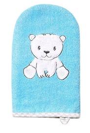 BabyOno Bath Washer Natural Bamboo Blue