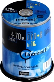Intenso DVD+R 16x 4.7GB 100 pcs. Cake Box 4111656
