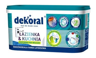 Emulsiniai dažai Dekoral Lazienka & Kuchnia, balti, 1 l