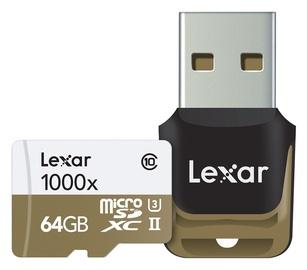 Lexar 64GB Micro SDXC UHS-II 1000x U3 Class 10 + USB Reader