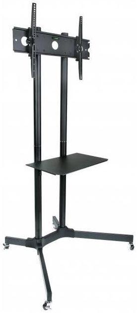 Televizoriaus laikiklis Techly Mobile Stand For TV LCD/LED/Plasma 30''-65'' Black