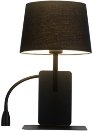 Light Prestige Dakota Wall Lamp 60W E27 Left Black