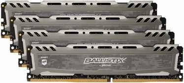 Crucial Ballistix Sport LT Gray 16GB 2400MHz DDR4 CL16 KIT OF 4 BLS4K4G4D240FSB
