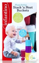 Infantino Shape Sorting Stack N Nest Buckets