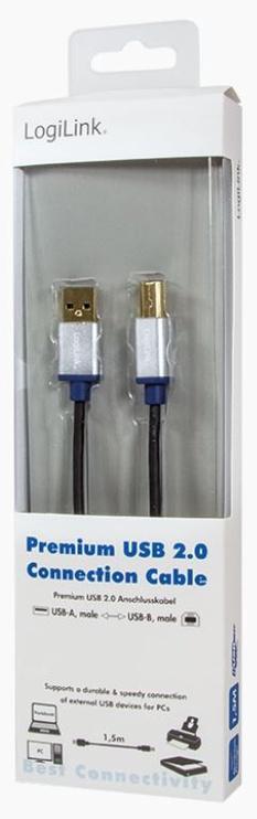 LogiLink Cable USB / USB-B Black 3m
