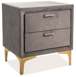 Signal Meble Nightstand Mirage Velvet Gray