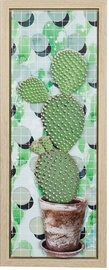 Home4you Print Picture 3D Metal Cactus 24x60cm