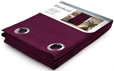 AmeliaHome Blackout Curtains Plum 140x245cm