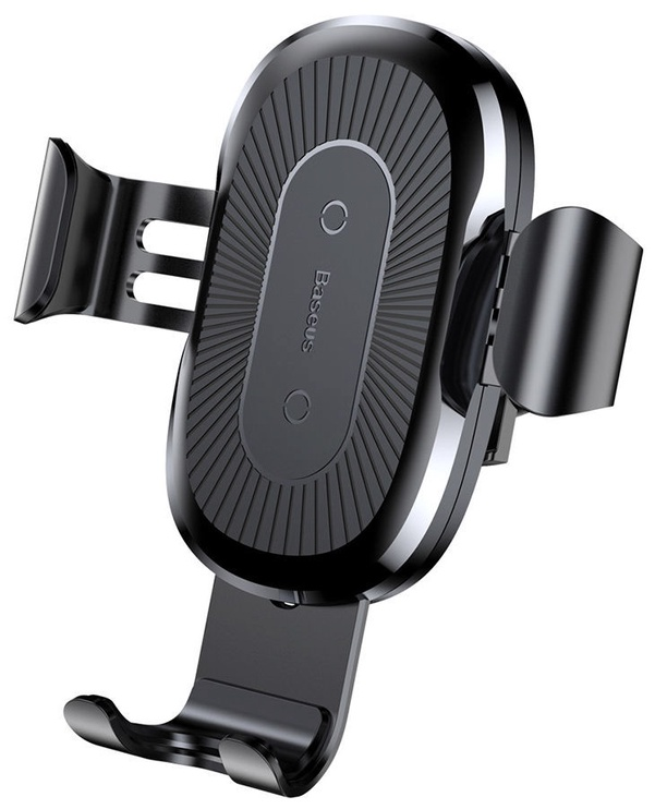 Telefono laikiklis Baseus Gravity With Qi Charger Black