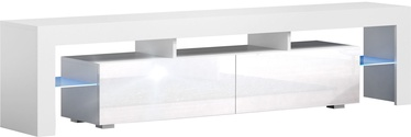 TV galds Pro Meble Milano 200 With Light White, 2000x350x450 mm