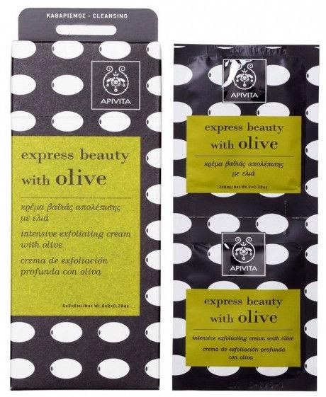 Apivita Express Intensive Exfoliating Olive 2 x 8ml