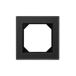 Vienvietis rėmelis Liregus Epsilon, juodas matinis stiklas