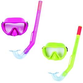 Snorkelēšanas trubiņa Bestway 24036, zaļa/rozā
