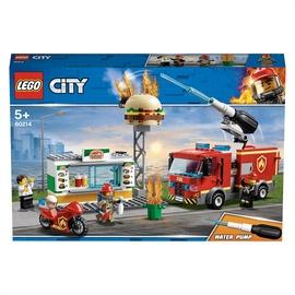 Konstruktor LEGO City Burgerikohviku tulekahju kustutamine 60214, 327 tk