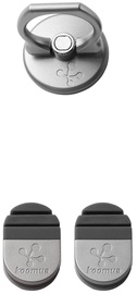 Koomus Finger Ring Smartphone Kickstand Car Mount Grey