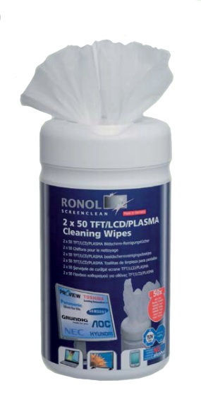 Ronol TFT/LCD/PLASMA Cleaning Wipes 2 x 50 pcs