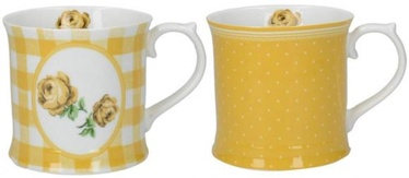 Creative Tops Vintage Rose Cups 420ml Yellow 2pcs