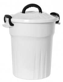 Plast Team American Bucket With Lid 43.5x34.5x39.5cm 25l White