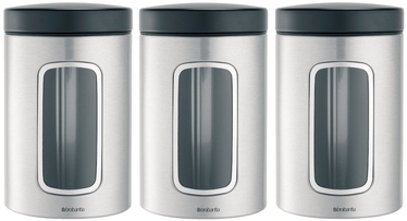 Brabantia Window Canister 1.4l Matt Steel Set 3pcs