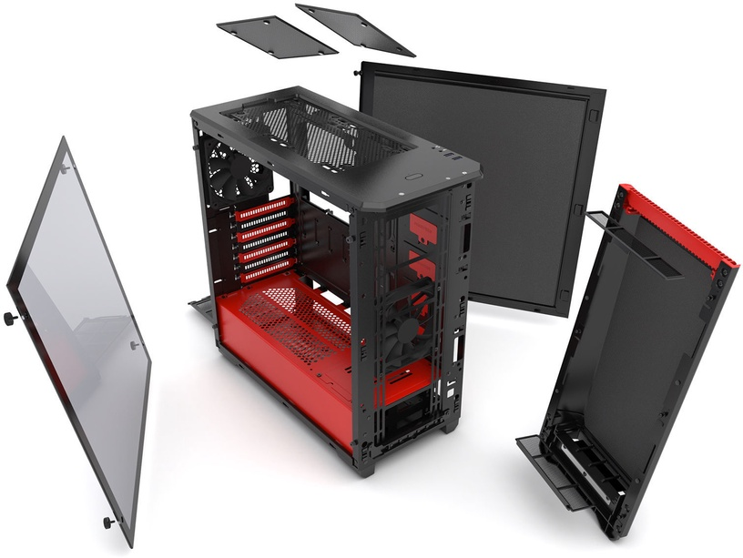 Phanteks Eclipse P400S Tempered Glass Black/Red