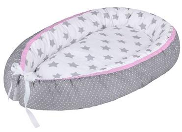 Lulando Multifunctional Baby Nest White With Grey Stars/Grey With Dots