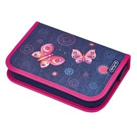 Herlitz Pencil Case Butterfly Blue