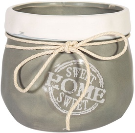 Home4you Sweet Home Flower Pot 12cm Gray