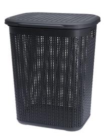 Ящик для белья Galicja Willow Plastic Laundry Baket Dark Grey 50l