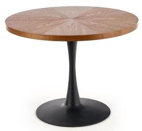 Обеденный стол Halmar Carmelo, ореховый, 1000x1000x750мм