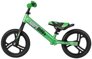 Vaikiškas dviratis Milly Mally Speedway Balance Bike Green 2619