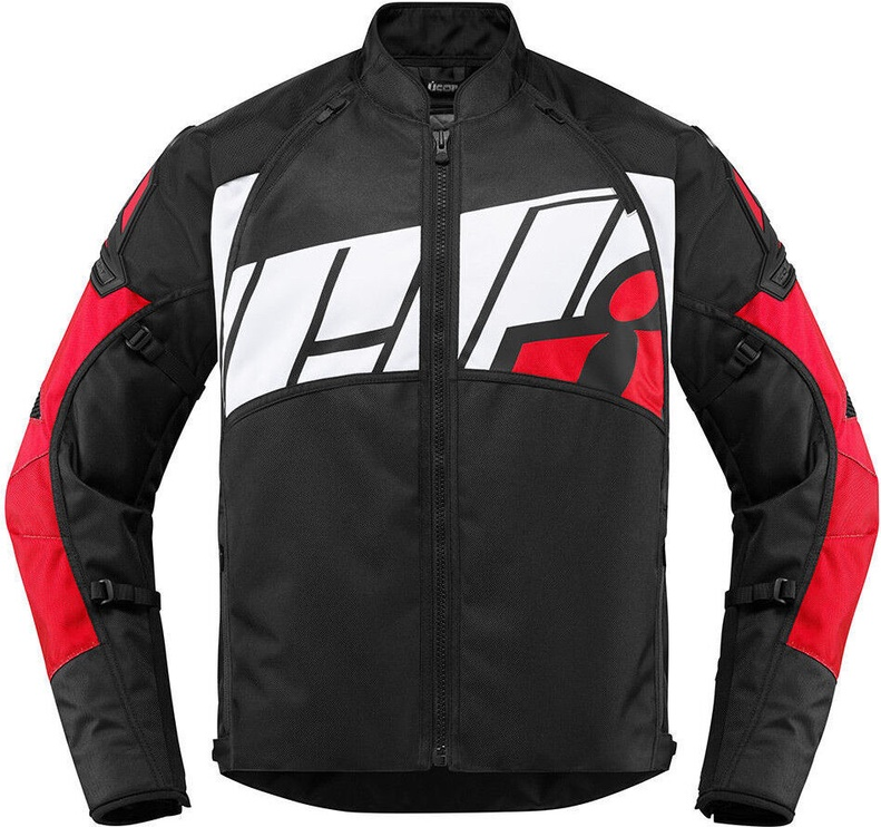 Icon Moto Jacket Automag Red M