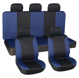 Autoserio Seat Cover Set AG-001 8pcs Black/Blue