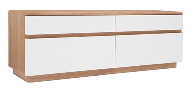 Black Red White Braga TV Cabinet White/Oak