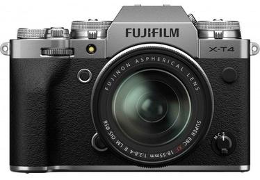 Fujifilm X-T4 Mirrorless Camera Silver + Fujinon XF 18-55mm f/2.8-4 R LM OIS