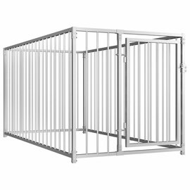 Suņa būris VLX Outdoor Dog Kennel Silver, 1000x2000x1000 mm