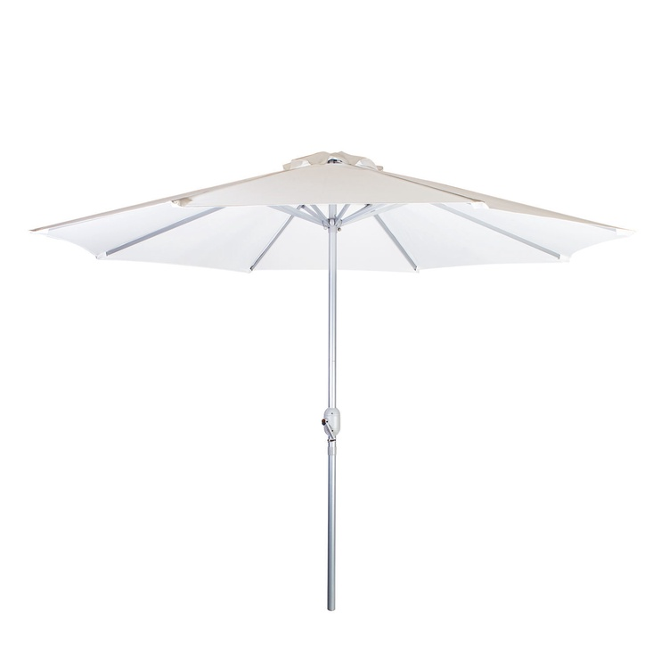 Home4you Bahama Parasol w/ Crank White/Silver