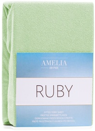 AmeliaHome Ruby Frote Bedsheet 80-90x200 Light Green 12