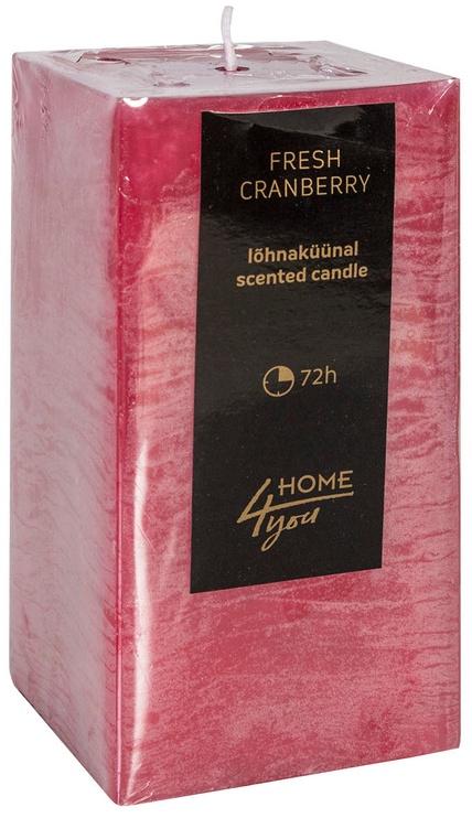 Ароматическая свеча Home4you Candle Fresh Canberry 7.5x7.5xH15см