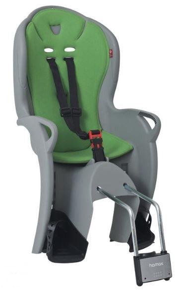 Детское кресло для велосипеда Hamax Kiss 551044, зеленый/серый, задняя