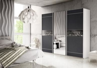 FM Bravo Downtown Wardrobe w/ Sliding Doors Black/White