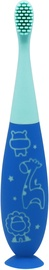 Marcus & Marcus Reusable Silicone Toddler Toothbrush Blue