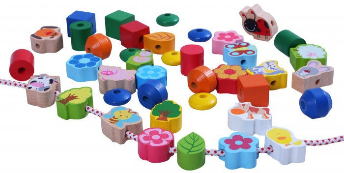 Gerardos Toys Wooden Beads With Animals 39280