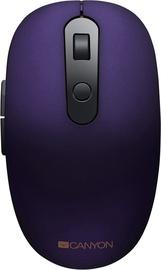 Kompiuterio pelė Canyon CNS-CMSW09 Violet, bevielė, optinė