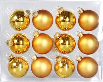 Verners Christmas Balls Gold 6cm 12pcs
