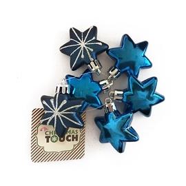 Ziemassvētku eglītes rotaļlieta Christmas Touch N1/L704606A+BS+Y6VNT, zila, 30 mm, 6 gab.
