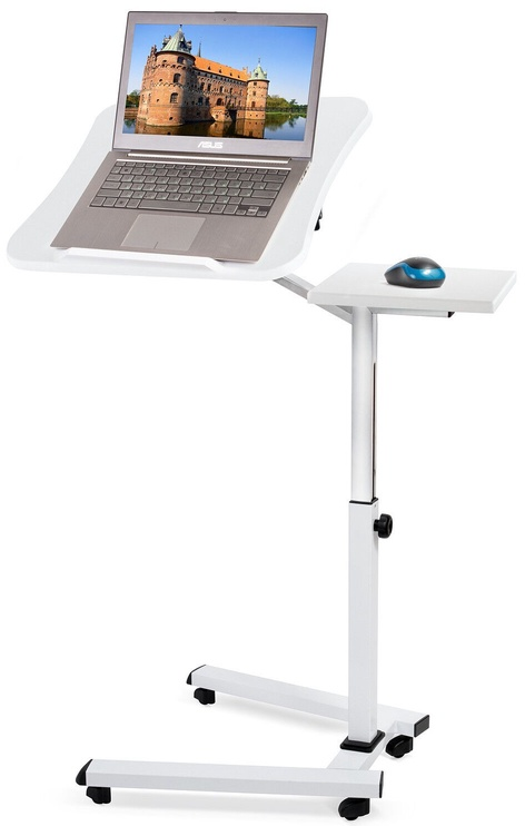 Tatkraft Folding Laptop Stand Table White