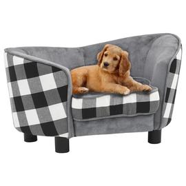 Кровать для животных VLX Lova, белый/черный/серый, 680x380 мм