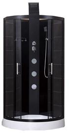 Dušas kabīne Vento Salerno, masāžas, pusapaļā, bez paliktņa, 900x900x2250 mm